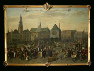 Jaarlijkse omgang der leprozen op koppertjesmaandag in Amsterdam