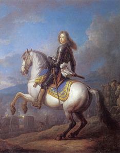 Ruiterportret van prins Philipp Moritz van Beieren (1698-1719)