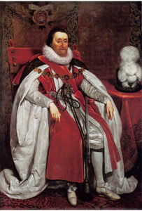 Portret van koning Jacobus  I van Engeland en Schotland