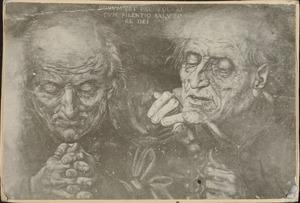 Twee biddende monniken