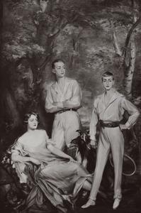 Portret van Lutgardis gravin van Rechteren Limpurg (1908-1989), Adolph Reinhard Zeyger graaf van Rechteren Limpurg (1909-1962) en Adolph Sweder Hubertus graaf van Rechteren Limpurg (1910-1972)