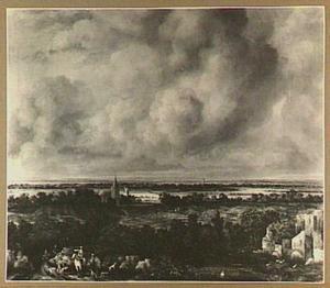 Vergezicht in de omgeving van Haarlem