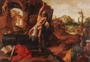 De wederopstanding van de man, die in het graf van Elisa geworpen werd (2 Koningen 13:20-21)