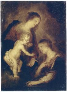 Maria en het kind met de H. Margareta van Antiochië