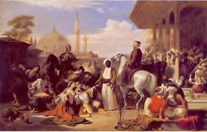 De slavenmarkt van Constantinopel