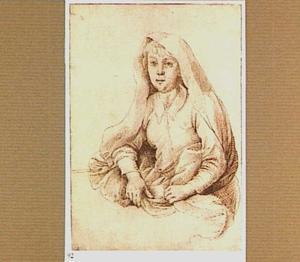 Studie van een vrouw met omslagdoek