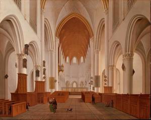 Interieur van St. Bavokerk in Haarlem