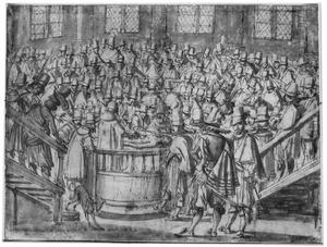 Anatomische demonstratie te Leiden