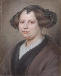 Portret van een vrouw met tipmuts