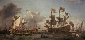 Het bezoek van Charles II aan de vloot in de monding van de Thames, 6 juni 1672