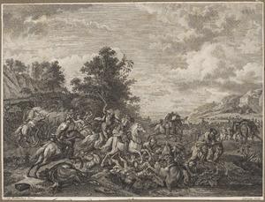 Schermmutseling van cavalerie