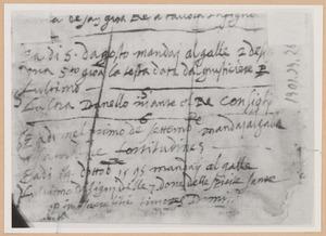 Schetsboekblad met notities van Stradanus betreffende de series 'Het leven van Johannes de Doper'  en 'De zeven gaven van de H. Geest'