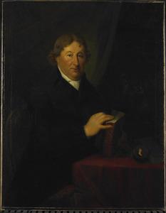 Portret van Gerrit van der Pot (1732-1807) met een portretminiatuur van Maria Catharina Pelerin (1773-1799)