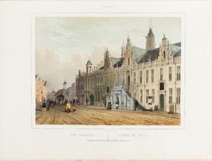 Gezicht op het Stadhuis van Leiden