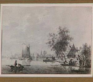 Vissersboten bij Streefkerk (?)