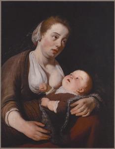 Jonge vrouw met een kind