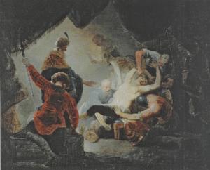 De blindmaking van Simson (Richteren 16:21)