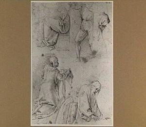 Studie van H. Veronica en gevallen Christus en draperiestudies