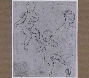Putti en een vrouwenkop