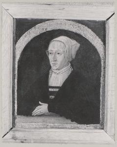 Portret van een vrouw genaamd Maria van Hongarije (1505-1558)