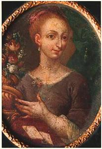 Portretminiatuur van onbekende vrouw