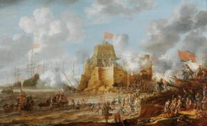 Belegering van een fort aan zee