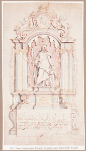 Ontwerp voor een altaar met de heilige Josef als voedstervader