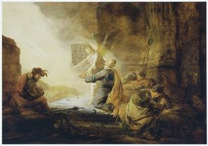 De bevrijding van Petrus uit de gevangenis (Handelingen 12:7-8)
