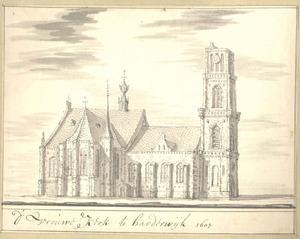Harderwijk, de Vrouwenkerk anno 1607