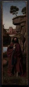 Johannes de Doper in een landschap
