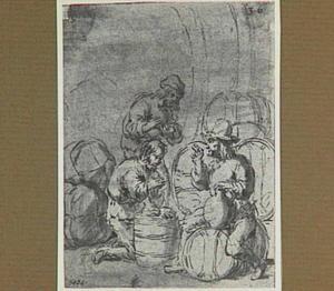 Lazarillo in de laadruimte van het zinkende schip (Lazarillo de Tormes dl. 2, cap. 3, p. 66)