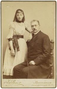 Portret van een onbekende man en een meisje