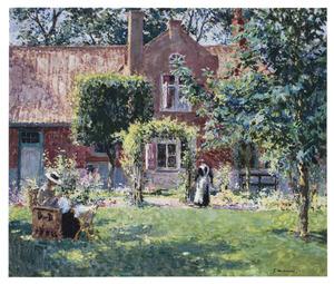 De bescheiden tuin