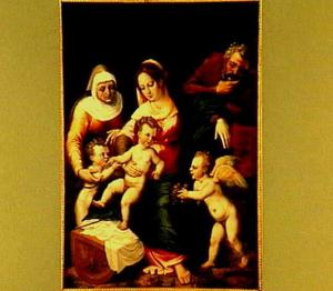De H. Familie met de H. Elisabeth en Johannes de Doper als kind