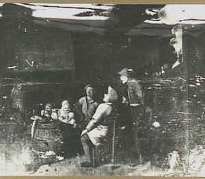 Boeren in een interieur