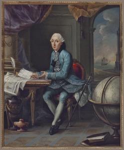 Portret van Joseph Henri de Piolenc aan een schrijftafel