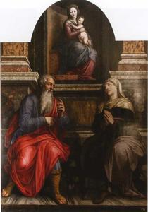 De maagd en kind met Anna en Joachim