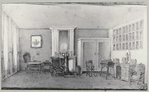 Interieur met portret van Rudolph Floris Carel Bentinck (1785-1857)
