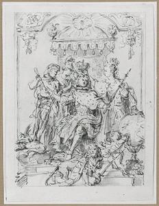 Allegorie op de Franse monarchie