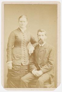 Dubbelportret van Constantijn Assuerus Sprenger (1852-1915) en Clementina Wilhelmina Lambrechtsen (1859-1927)