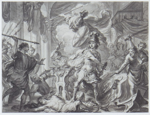 Phineus verstoort het bruiloftsfeest van Perseus en Andromeda (Metamorfosen)