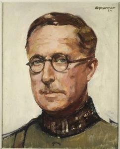 Portret van Koning Albert der Belgen (1857-1934)