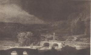 Landschap met twee bruggen