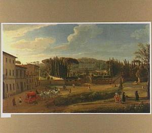 Gezicht op de Villa Aldobrandini te Frascati