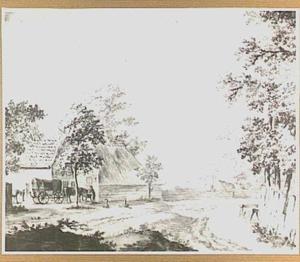 Landschap met pleisterplaats bij Druten