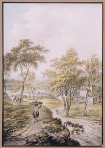 Heuvellandschap met gezicht op Favallo