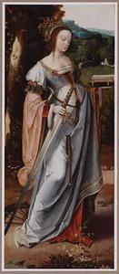 De H. Catharina in een landschap