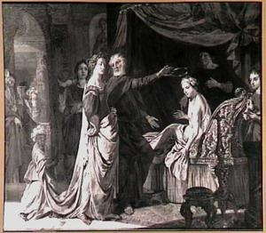Koning Seleukos Nikator treedt af voor zijn zoon en schenkt hem zijn vrouw Stratonike (Val.Max.5,hoofdst.7)