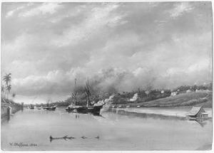 Beschieting van de versterkingen van de Sultan van Djambi, 6 september 1858