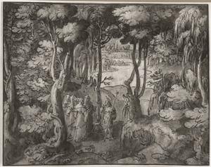Johannes de Doper in gesprek met de Farizeeërs  bij de Jordaan